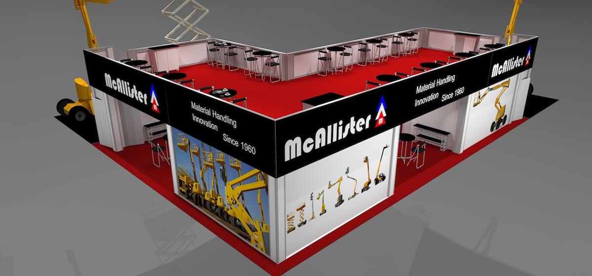 MC4060 Trade Show Multi-Level Double Deck 60 ft open design